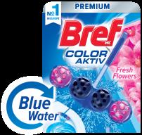 BREF WC BLUE AKTIV FRESH FLOWERS Ароматизатор за тоалетна, 50 гр.