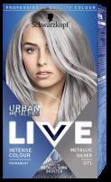 LIVE URBAN METALLICS Боя за коса U71 Metallic silver