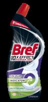 BREF WC 10X EFFECT POWER GEL Препарат за почистване на тоалетна чиния LAVENDER, 700 мл.