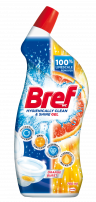 BREF WC HYGIENICALLY CLEAN & SHINE GEL Препарат за почистване на тоалетна чиния ORANGE BRUST, 700 мл.