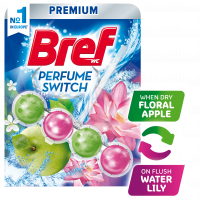 BREF WC PERFUME SWITCH FLORAL APPLE & WATER LILY Ароматизатор за тоалетна, 50 гр.
