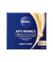 NIVEA CLEVER AGE Възстановяващ нощен крем против бръчки 55+, 50 мл.