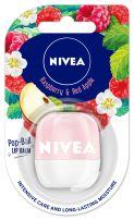 NIVEA POP BALL Балсам за устни малина и червена ябълка, 7 гр.