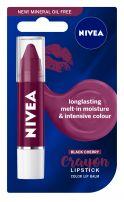 NIVEA CRAYON LIPSTICK Балсам за устни черна череша, 3 гр.