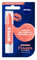NIVEA CRAYON LIPSTICK Балсам за устни корал, 3 гр.