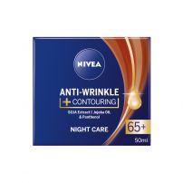 NIVEA ANTIWRINKLE+ Контуриращ нощен крем против бръчки 65+, 50 мл.