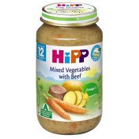 HIPP BIO Пюре микс от зеленчуци и телешко месо след 12 месеца 6863, 220 гр