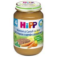 HIPP BIO Пюре моркови с картофи и агнешко месо 6123, 190 гр