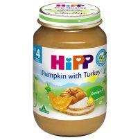 HIPP BIO Пюре тиква и пуешко месо 6183, 190 гр