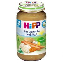 HIPP BIO Пюре зеленчуци и телешко месо 6413, 220 гр