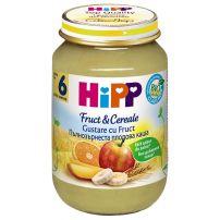 HIPP BIO Пюре пълнозърнеста каша плодова 4800, 190 гр