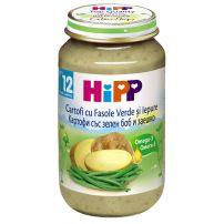 HIPP Пюре картофи, зелен боб и заешко месо 6853, 220 гр