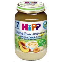 HIPP BIO Пюре плодов дует праскова и кайсия с извара 5470, 160 гр