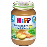 HIPP BIO Пюре моркови, картофи с пилешко месо 6264, 190 гр