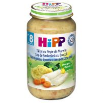 HIPP Пюре спагети, броколи, сметана и риба 6550, 220 гр