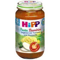 HIPP BIO Пюре спагети, домати и моцарела 6400, 220 гр