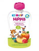 HIPP HIPPIS Био пълнозърнеста закуска горски плод, ябълка и праскова 8525, 100 гр.