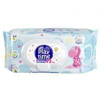 BABY CREMA PLAY TIME Бебешки мокри кърпи сини/жълти, 72 бр.