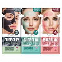 DEBA PURE CLAY 3 вида почистващи маски за лице 3 х 7мл