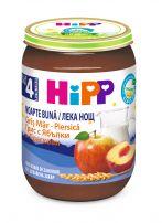HIPP BIO  Млечна каша лека нощ грис с ябълки и праскови 5509, 190 гр.
