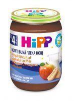 HIPP BIO  Млечна каша лека нощ бисквити с ябълка 5514, 190 гр.