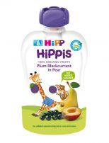 HIPP HIPPIS Био плодова закуска слива, касис и круши 8526, 100 гр.
