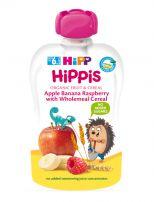 HIPP HIPPIS Био плодова закуска ябълка, банан и бисквити 8508, 100 гр.